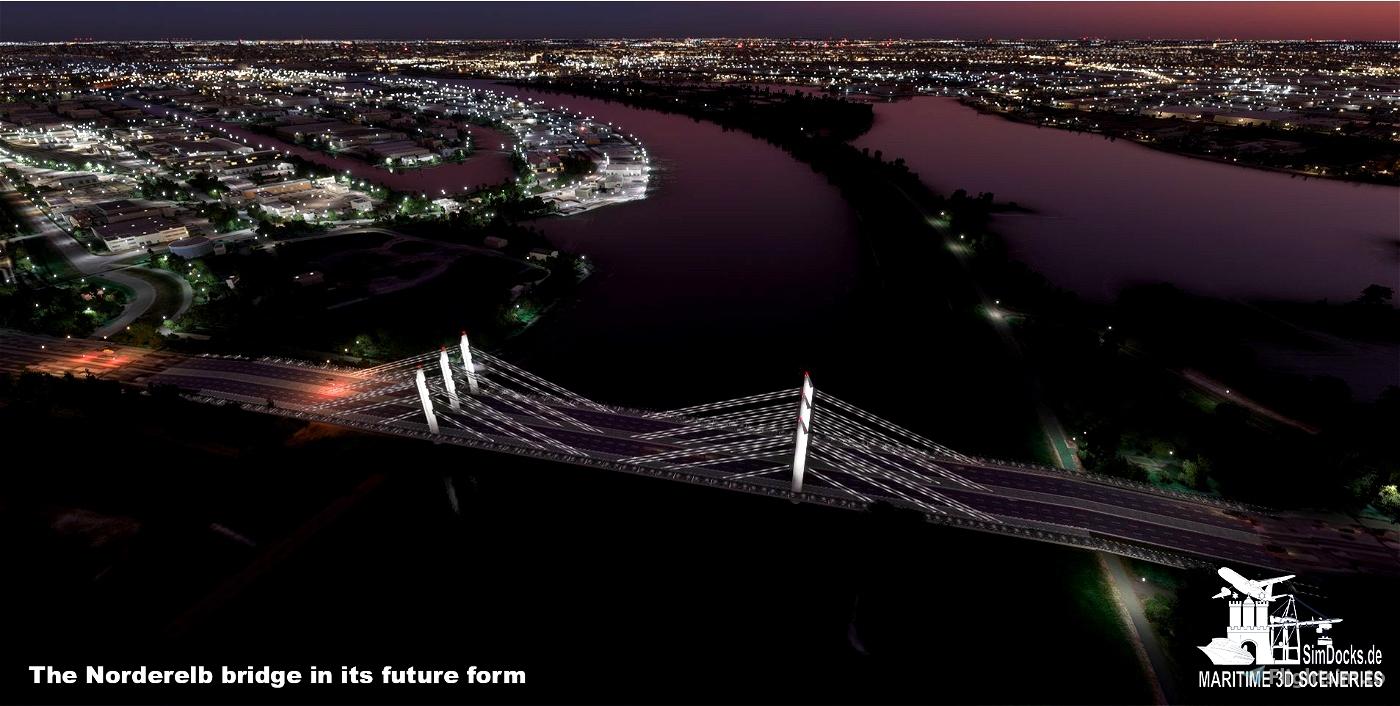 Nothern Elbe Bridge - Hamburg (future form)