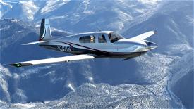 Silver and Red Livery for Carenado Mooney Image Flight Simulator 2020