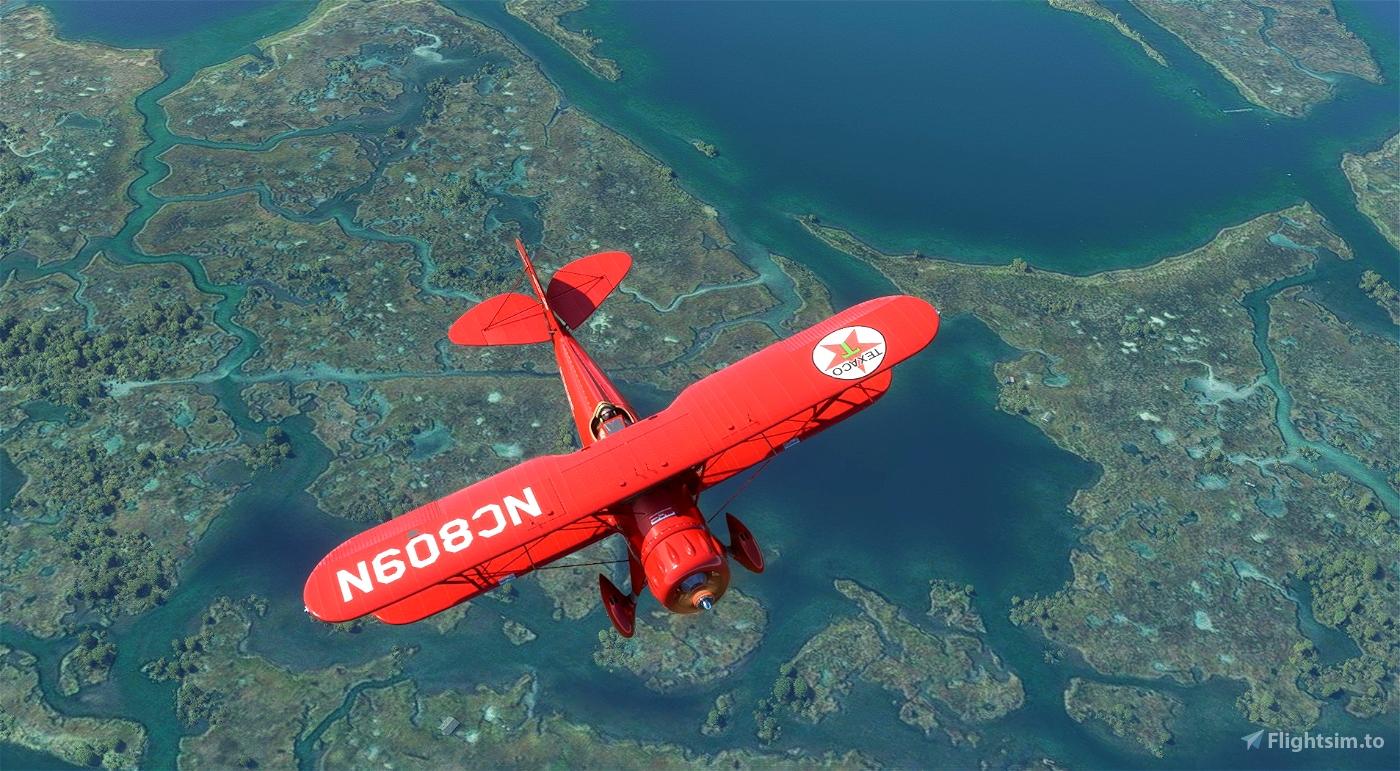 Waco YMF-5 NC809N Texaco