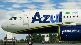 AZUL A320   10K Resolution Image Flight Simulator 2020