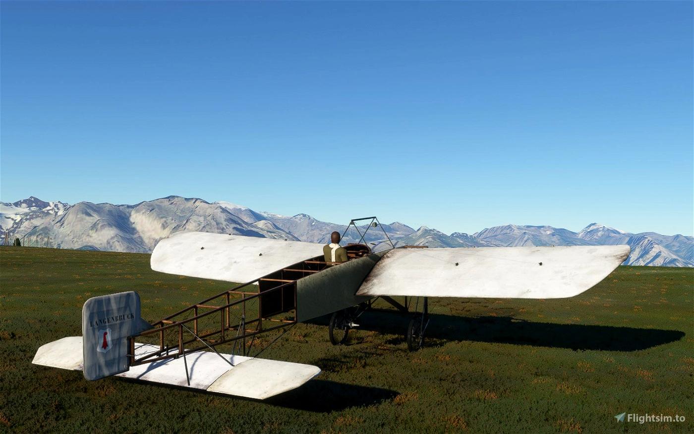 Bleriot XI 'Langenbruck' livery flown by Oskar Bider
