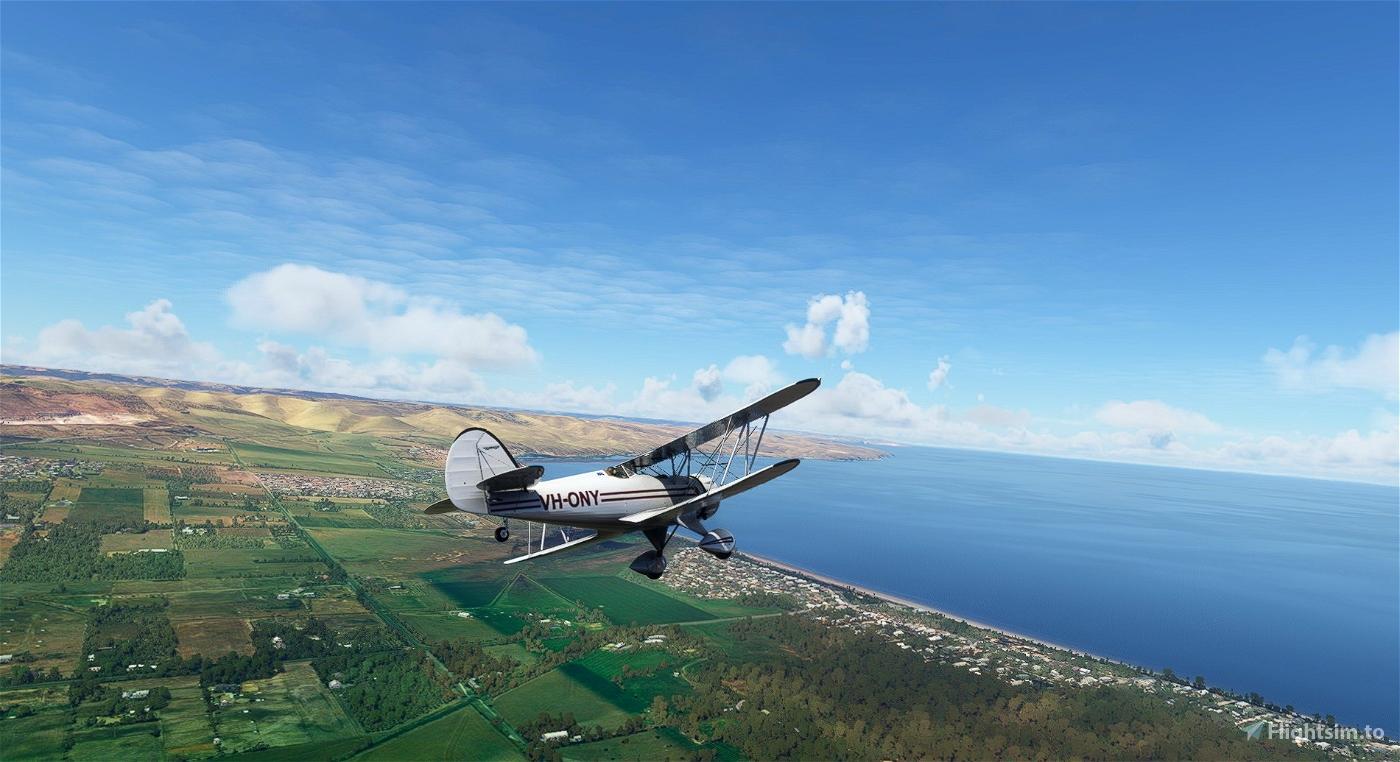 Waco YMF-5 VH-ONY Flight Simulator 2020