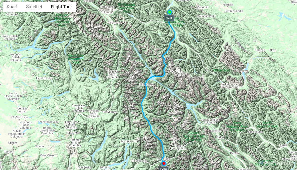Discover British Columbia : flight 1 : Jasper to Revelstoke Flight Simulator 2020