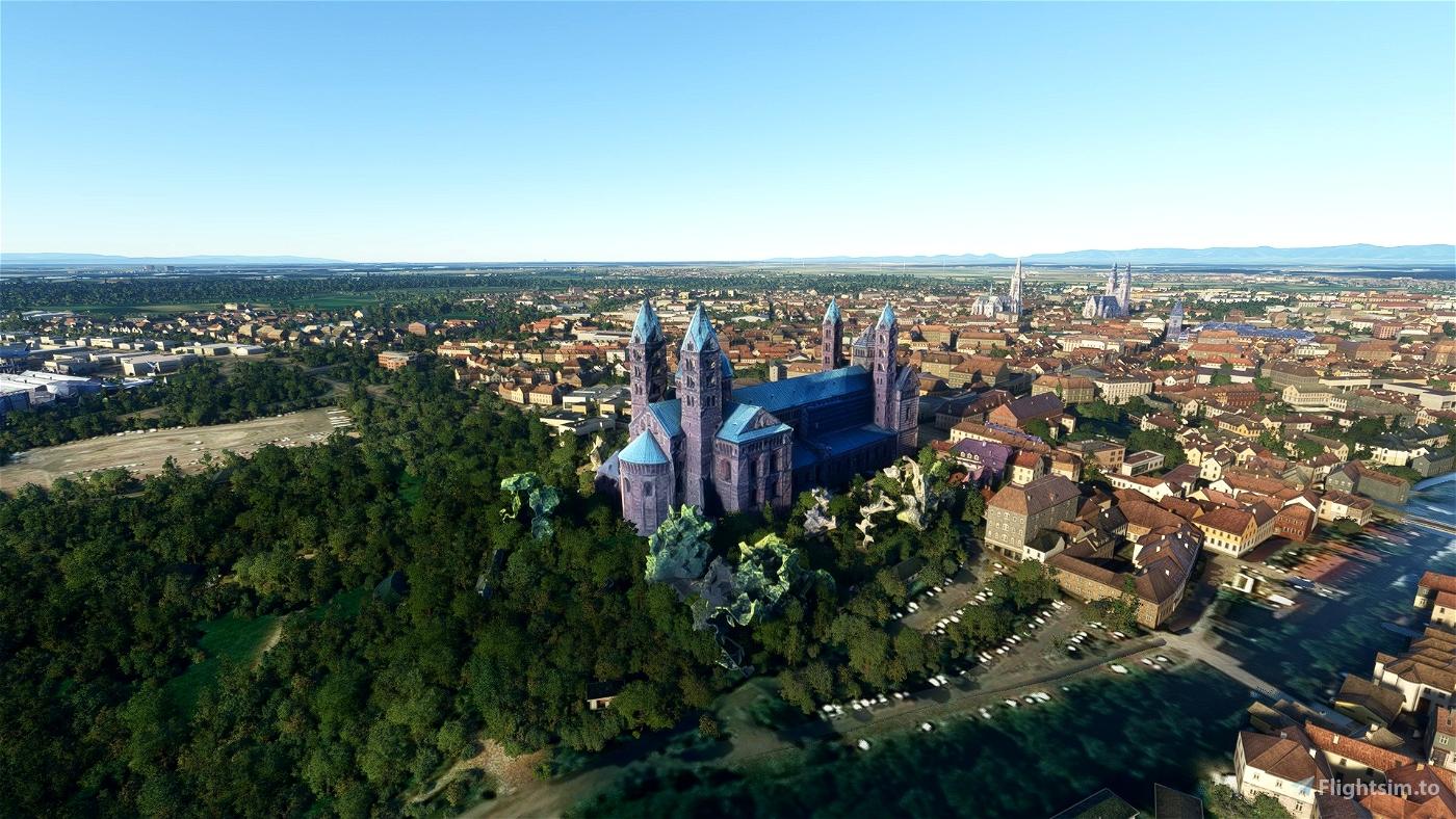 Speyer Cathedral Flight Simulator 2020