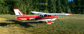 C172 G1000 - Reims inspired red and black. Image Flight Simulator 2020