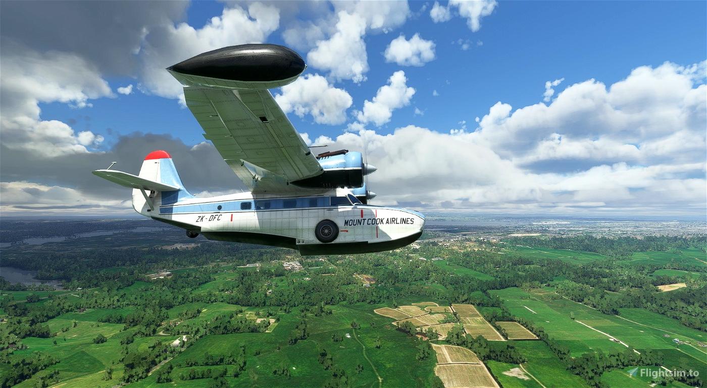 Grumman Goose ZK-DFC Mount Cook Airlines Flight Simulator 2020