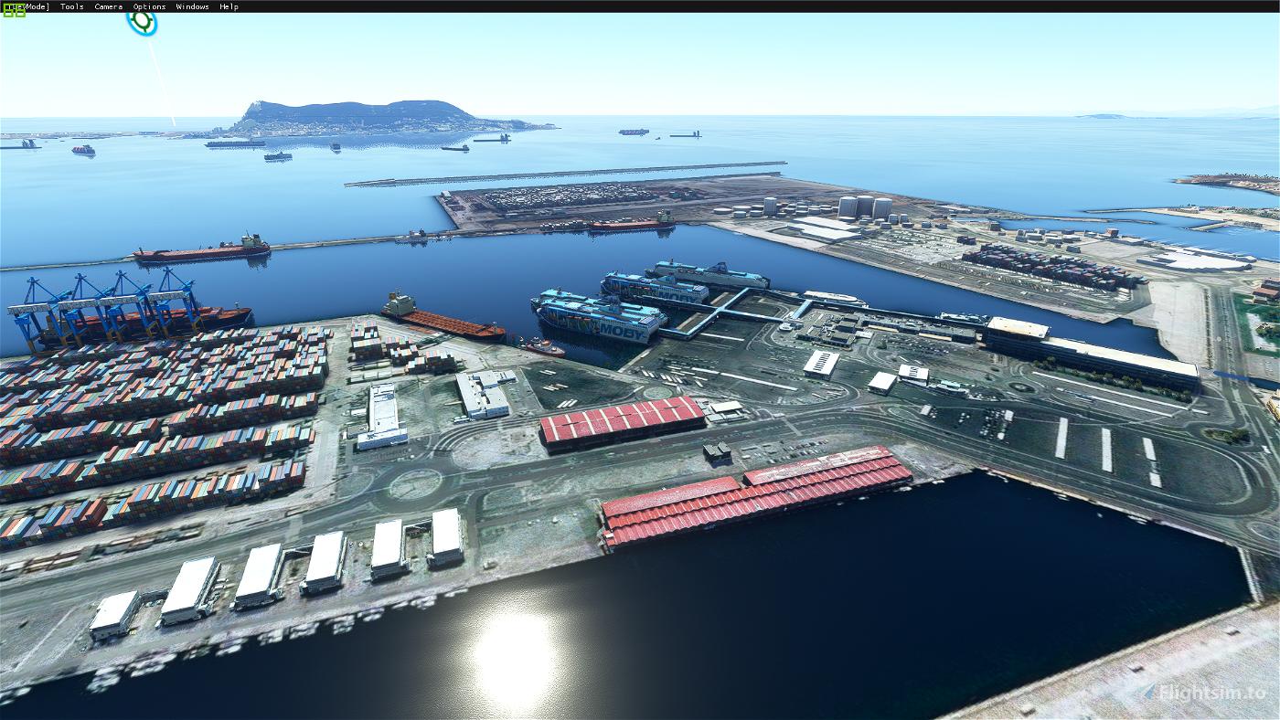 Gibraltar/Algeciras Bay, Algeciras Port and Gibraltar Airport enhancements