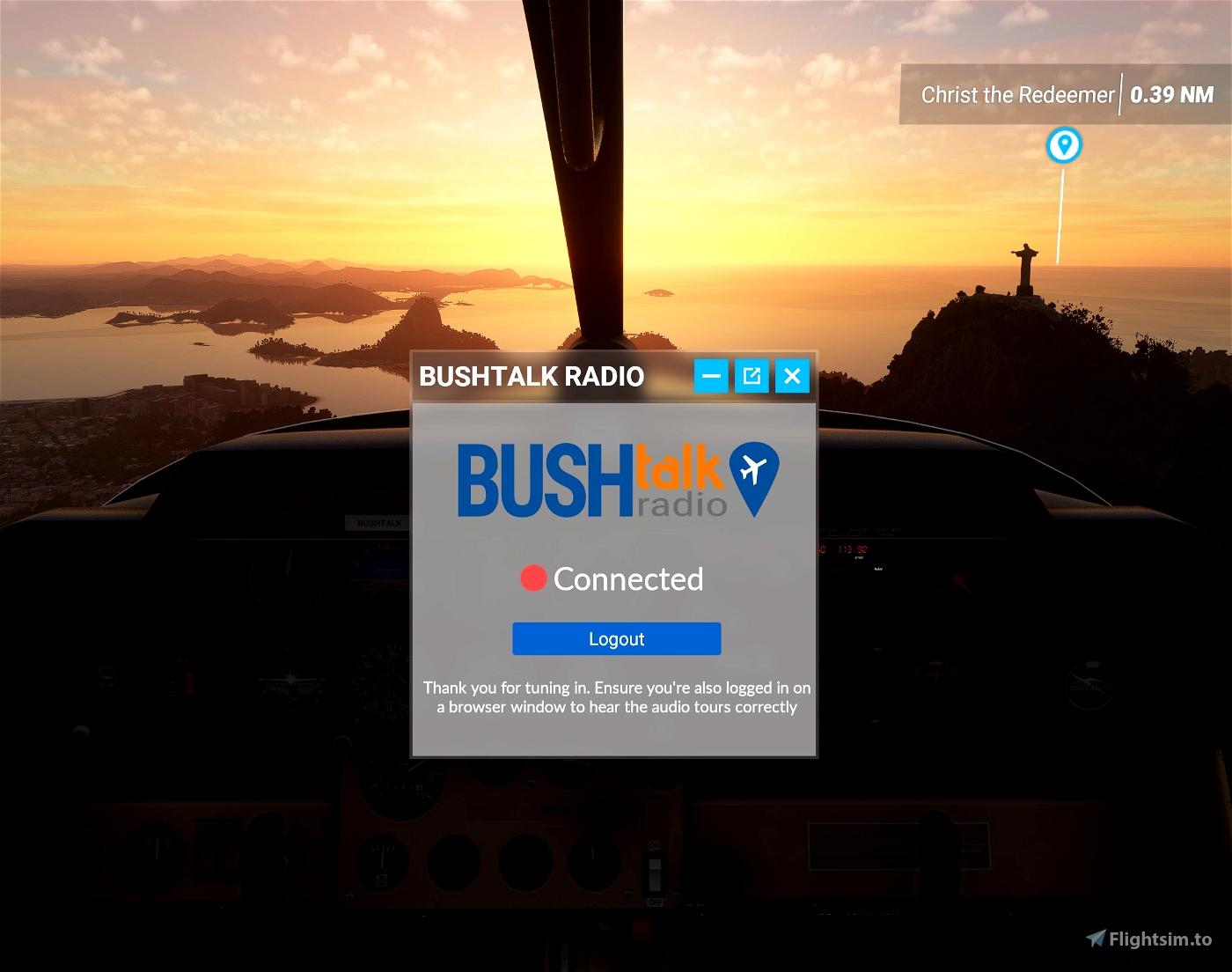 Bushtalk Radio Client: Audio tours from your cockpit