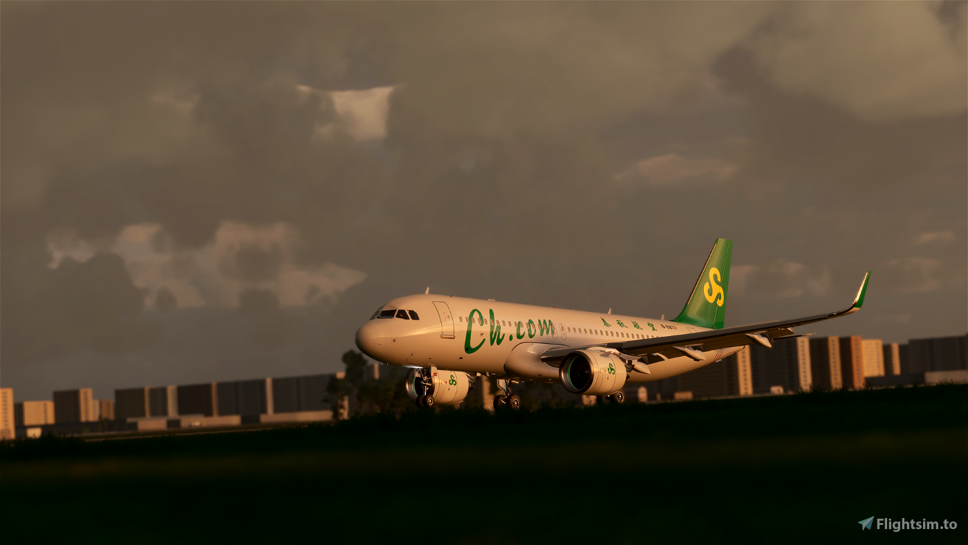 A320neo Spring Airlines 8k Livery