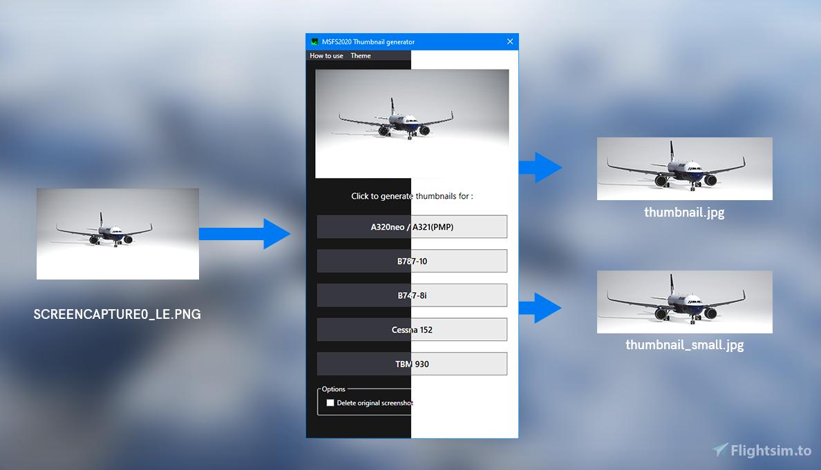 Default thumbnail generator Flight Simulator 2020