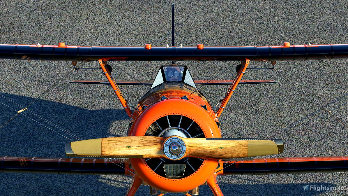 Waco YMF-5 Bright Orange livery