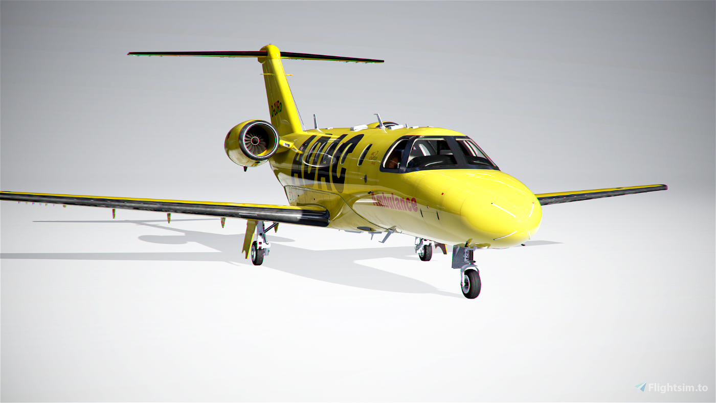 CJ4 ADAC (D-CURE) fictional Flight Simulator 2020