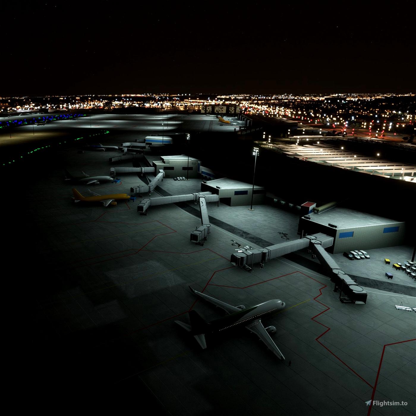 Madrid Barajas (LEMD) Night Light Enhancement Flight Simulator 2020