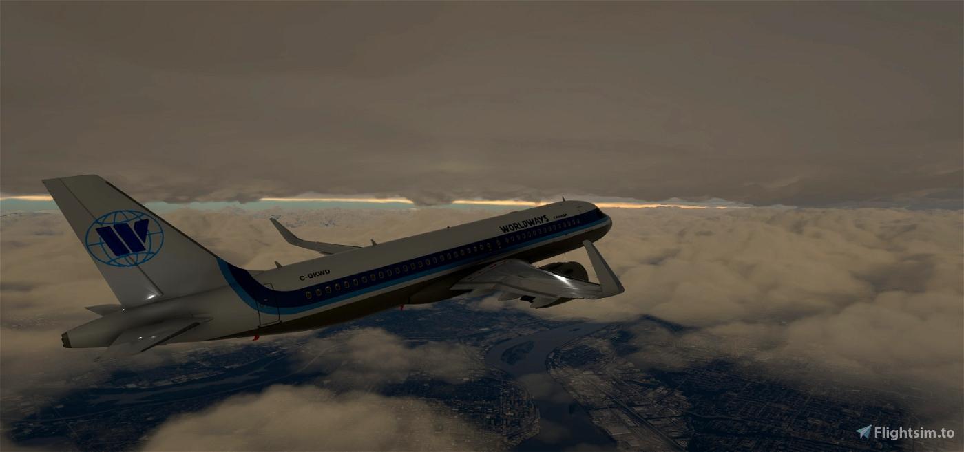 A320Neo Worldways Canada -8K Flight Simulator 2020
