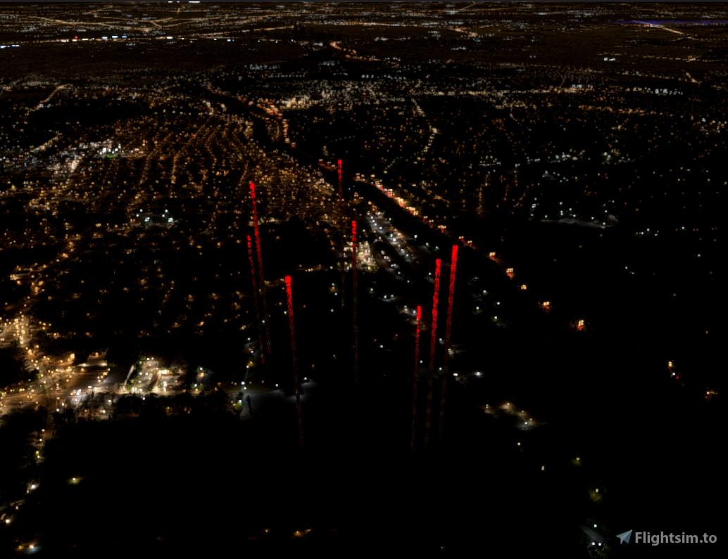 Radio Towers 6miles N of Philadelphia