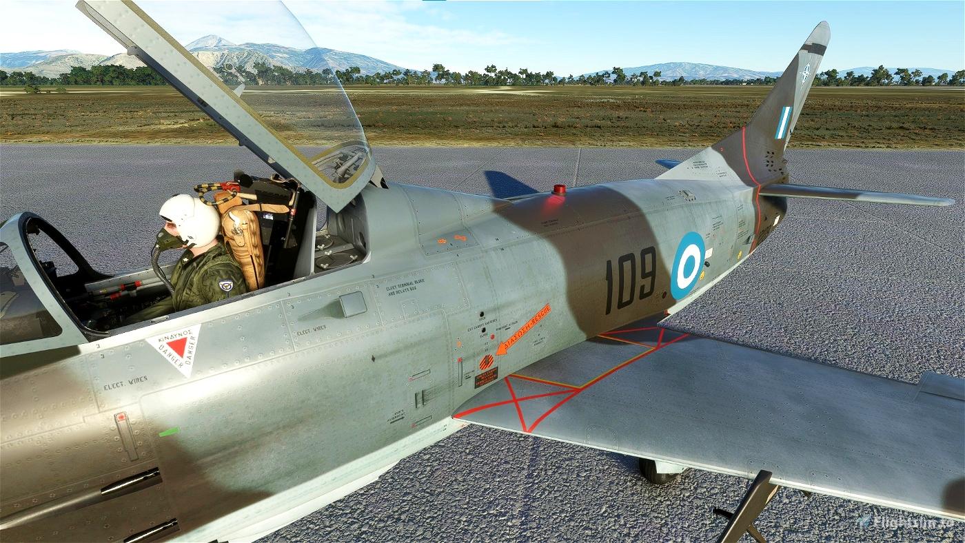 FIAT- AERITALIA G.91 HAF livery • Microsoft Flight Simulator