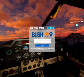Bushtalk Radio Client: Audio tours from your cockpit Microsoft Flight Simulator