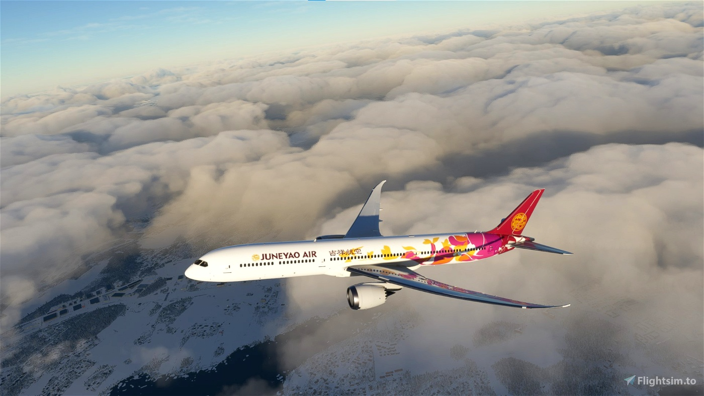 Juneyao Air Colorful Petals B787-10