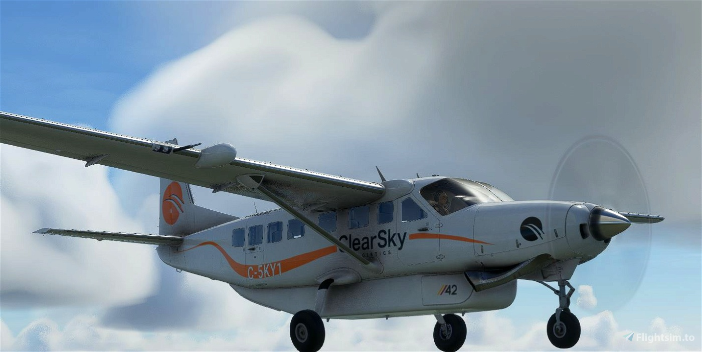OFFICIAL ClearSky Logistics Livery for Asobo C208B