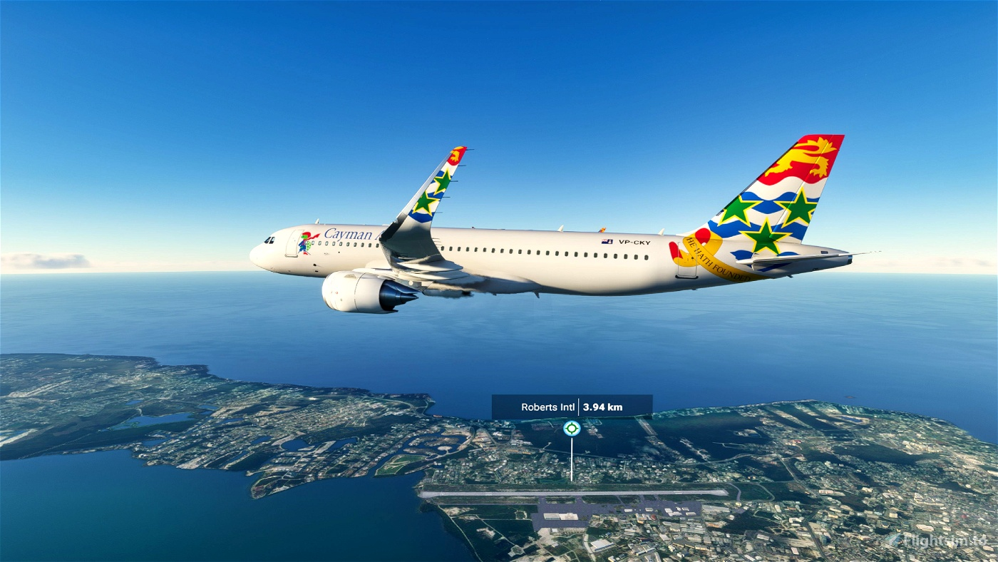 [8K] Cayman Airways Flight Simulator 2020