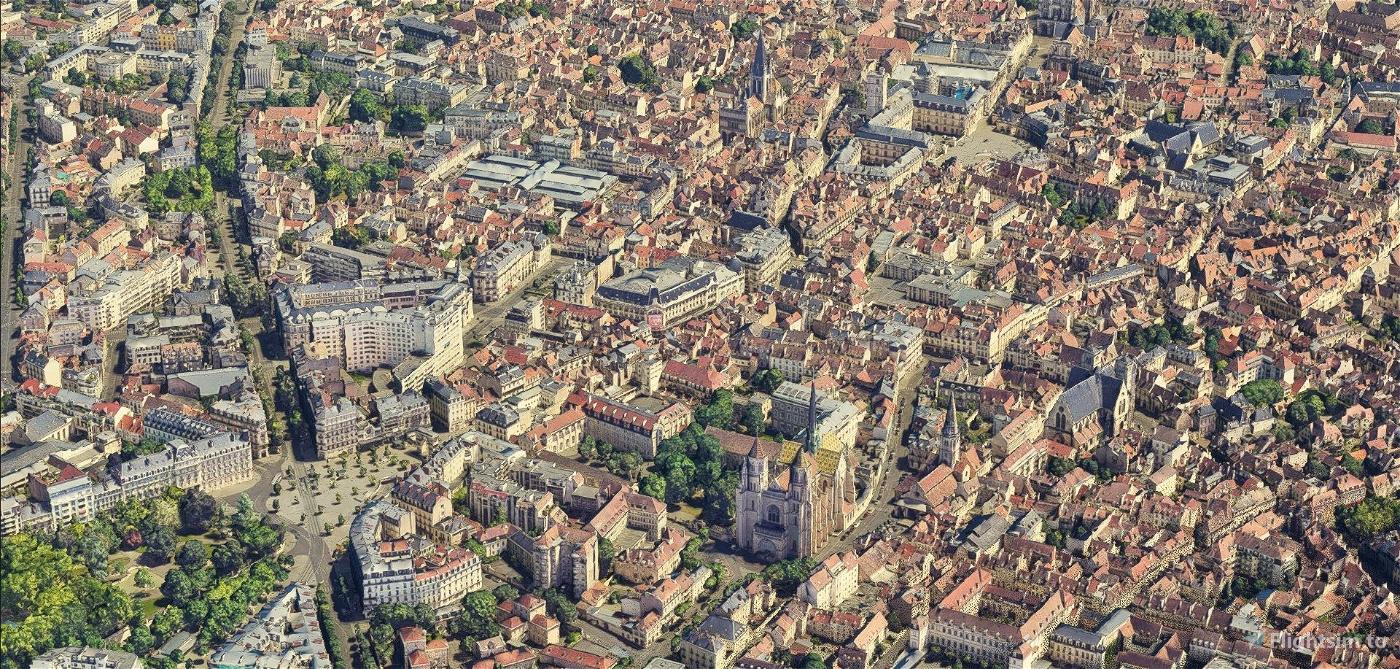 Dijon city & LFSD airport Flight Simulator 2020