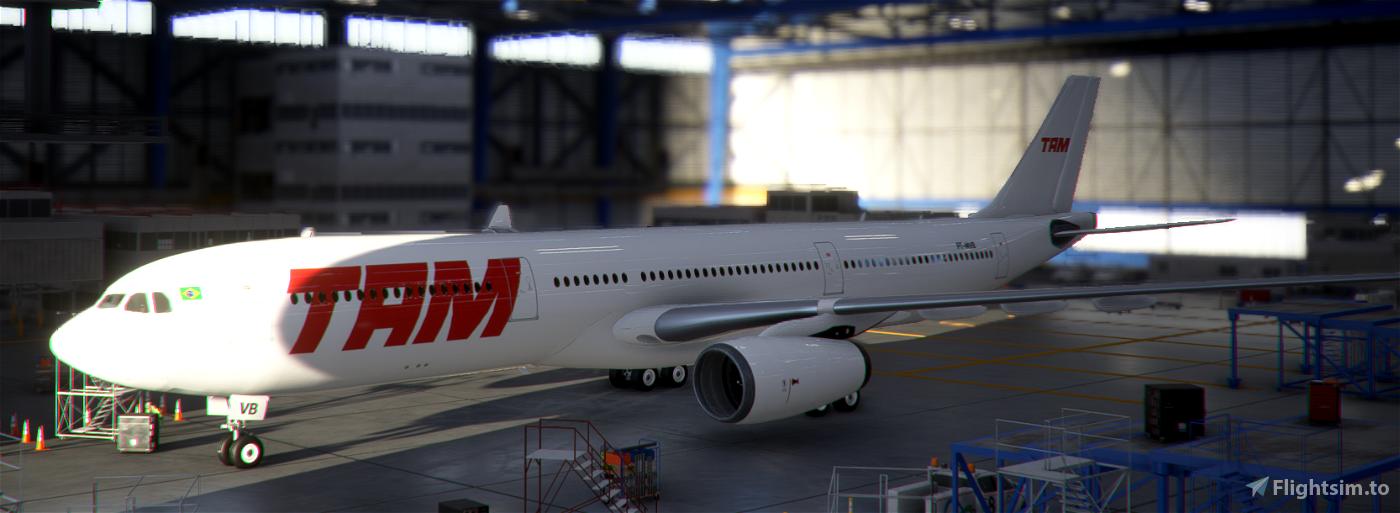 TAM PT-MVB White Livery A330-300 Flight Simulator 2020