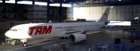 TAM PT-MVB White Livery A330-300 Image Flight Simulator 2020