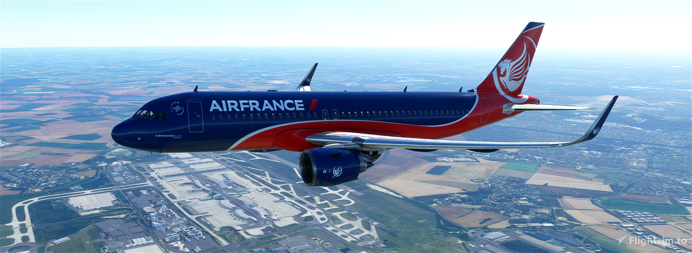 A320neo Air France fictitious concept livery 03 Flight Simulator 2020