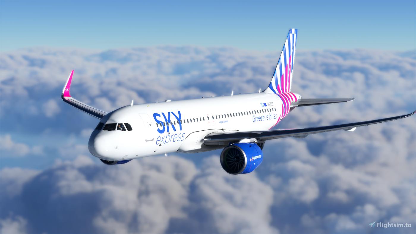 [A32NX] [8K] Sky Express Airlines (SX-TEC) Flight Simulator 2020