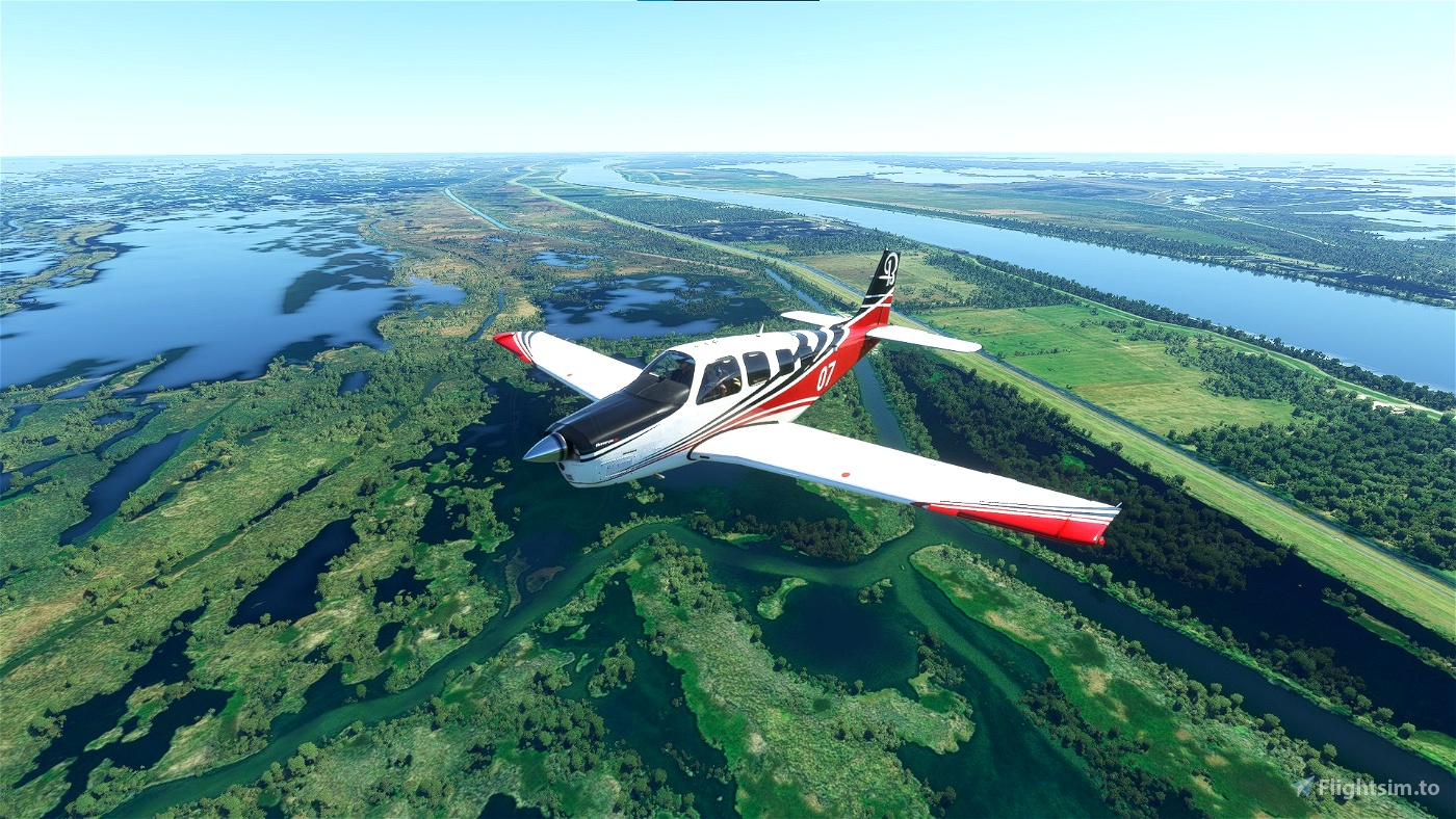 Mississippi River Bush Trip Flight Simulator 2020