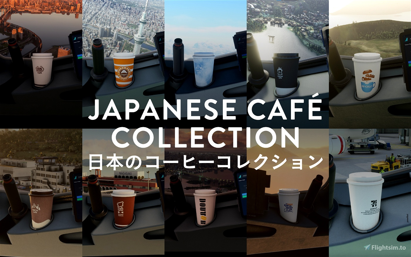 Japanese café collection Flight Simulator 2020