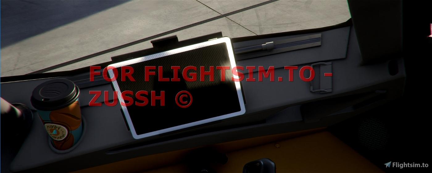 FlyByWire Coffe Cup & FlyPad Skin Pack Flight Simulator 2020