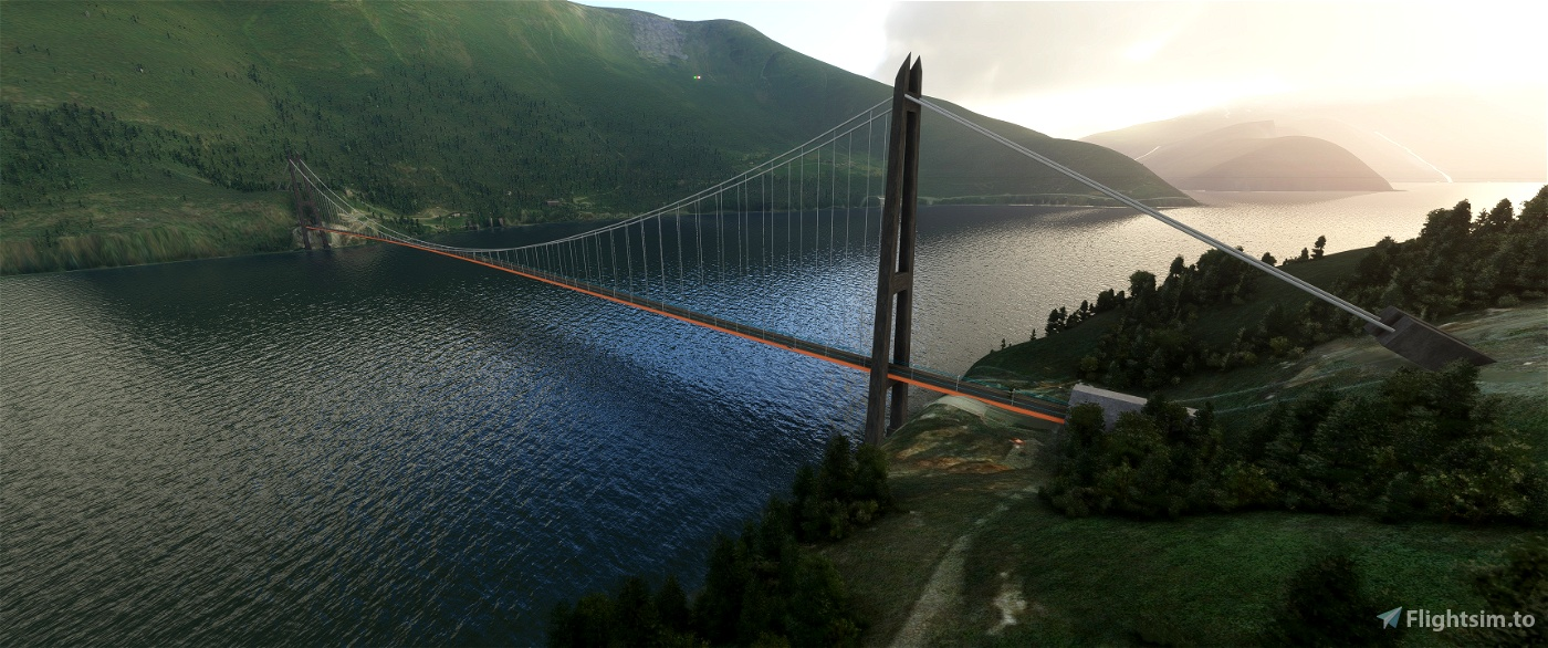 Hardangerbrua Flight Simulator 2020