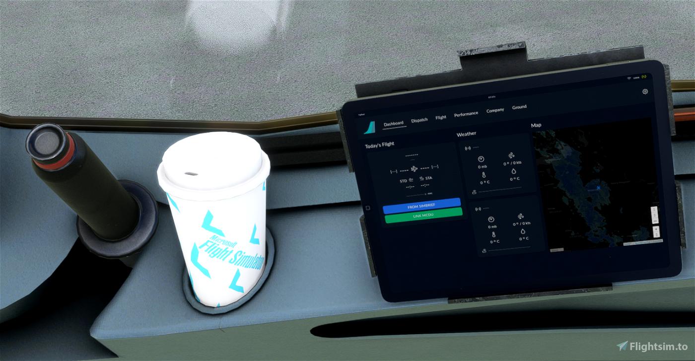 A32NX Coffee Cup - Aviators Livery Flight Simulator 2020