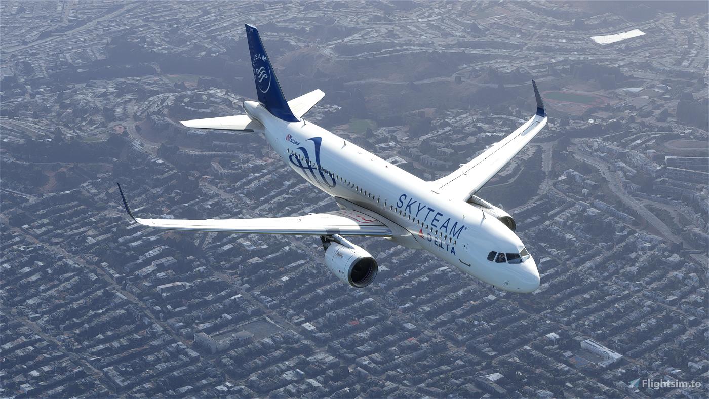 Delta Air (SkyTeam) White A320 Neo - 8K