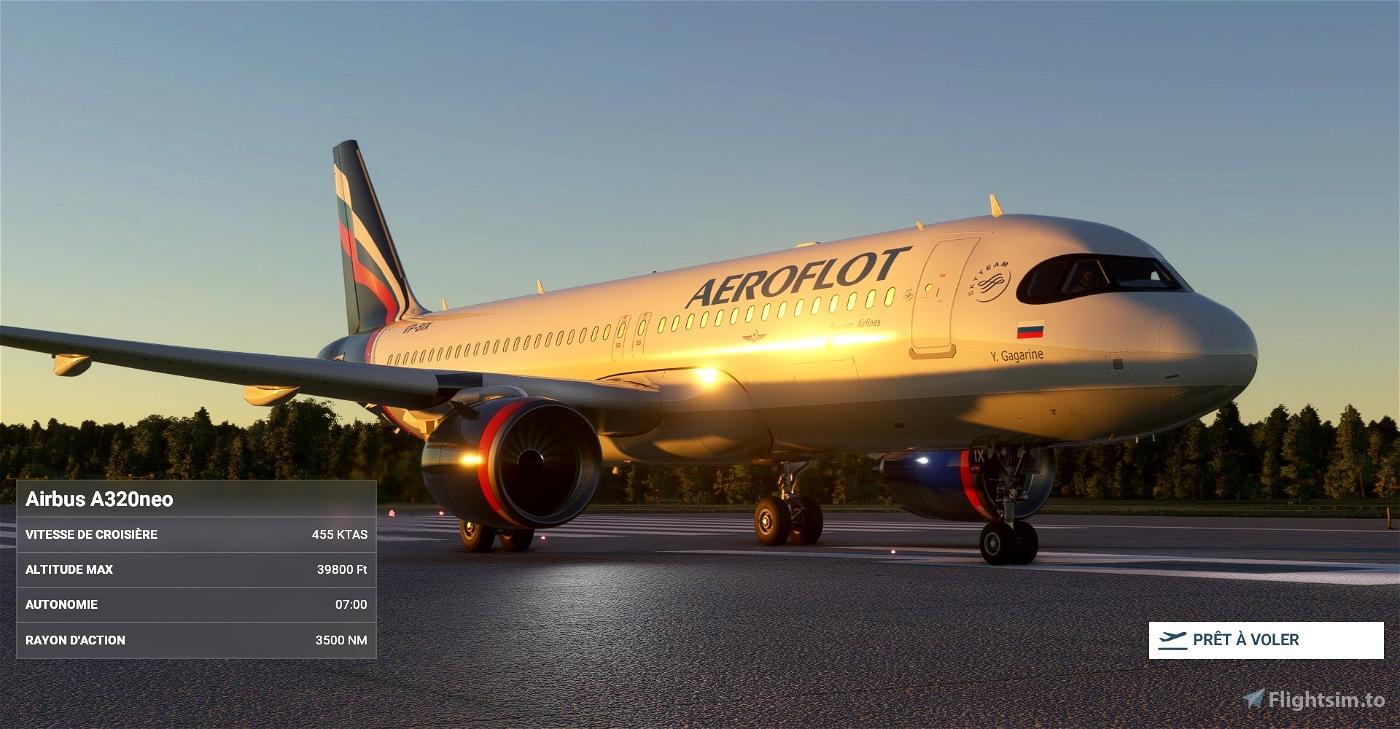 "Aeroflot 2019 ""brand image"" (based on A350) A320neo 8K"