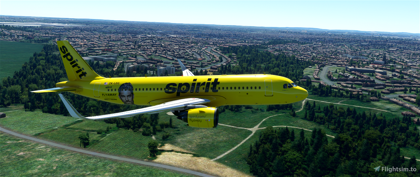 [ASOBO] Airbus A320neo - Spirit FlyAway Flight Simulator 2020