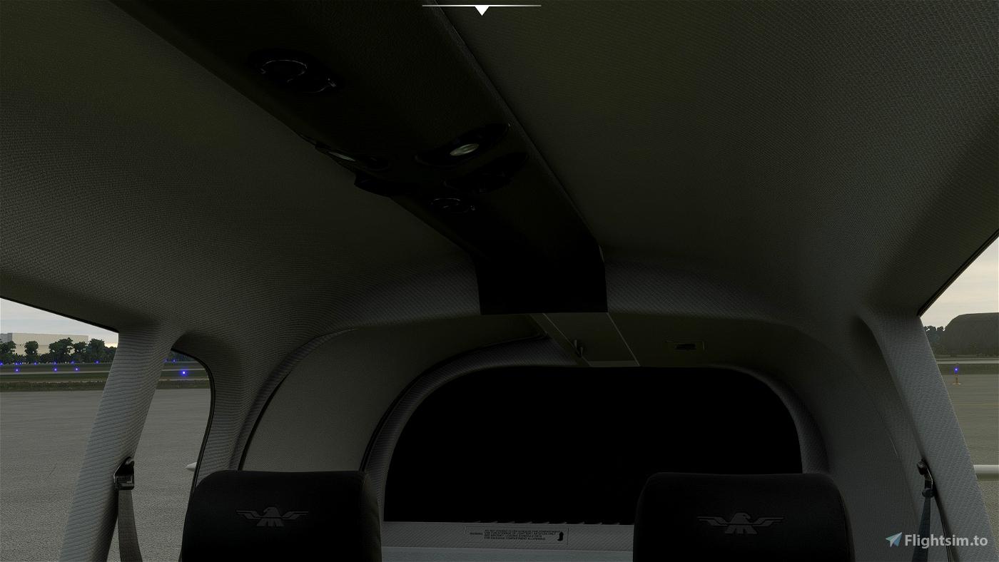 Mooney M20R Ovation - Grey Interior with Dark Cockpit Panel