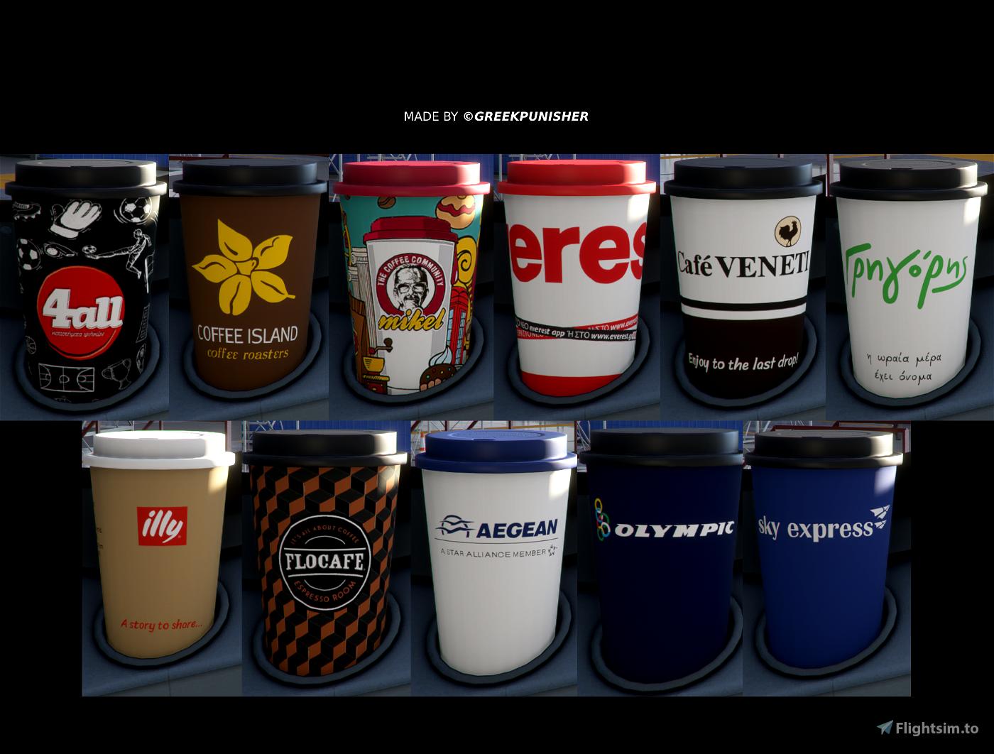 [4K] Greek coffee cups Flight Simulator 2020