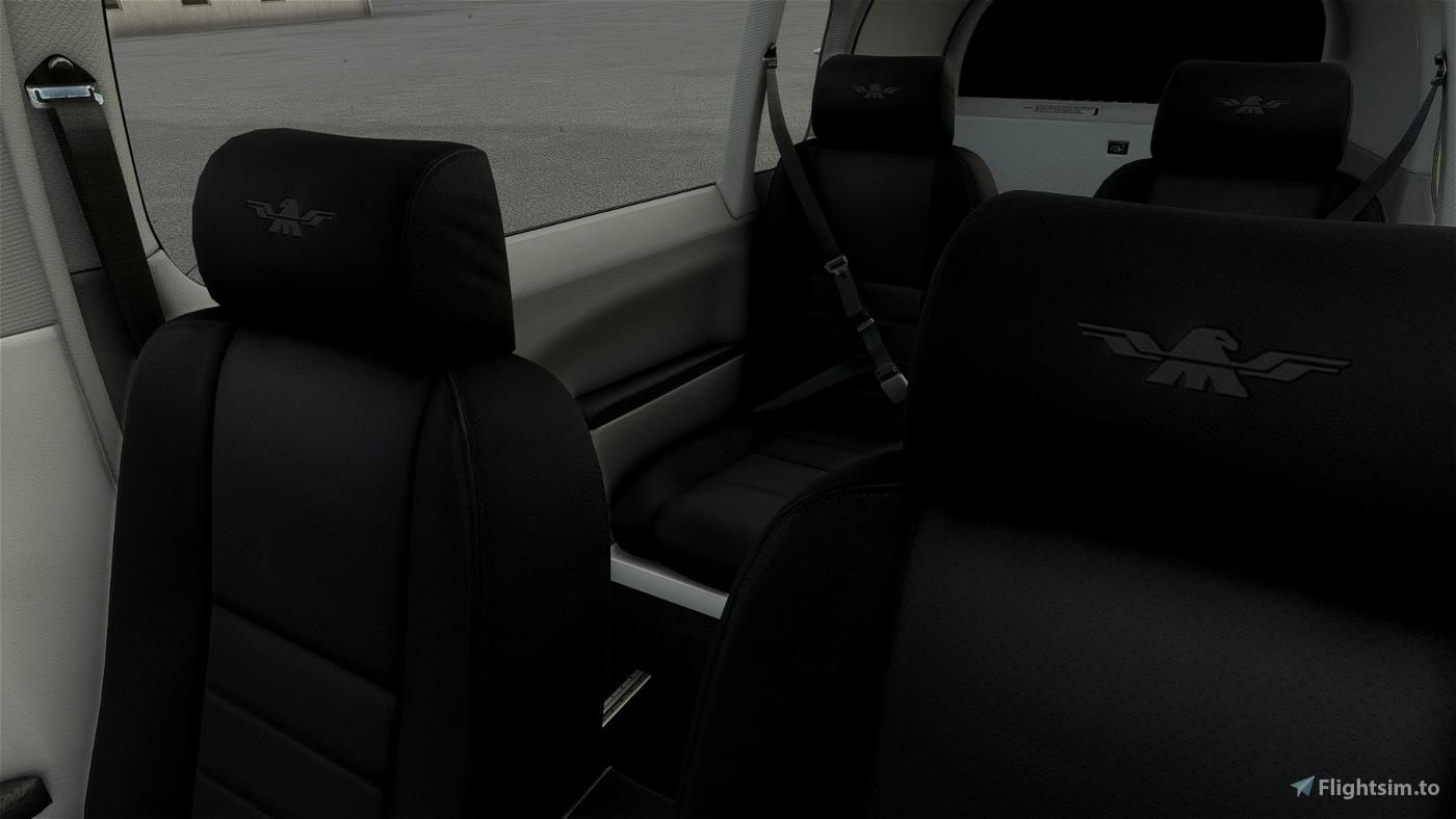 Mooney M20R Ovation - Grey Interior with Dark Cockpit Panel Flight Simulator 2020
