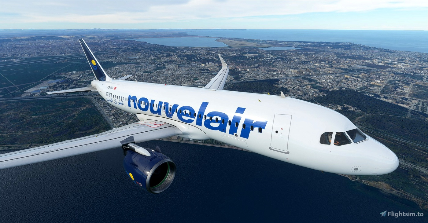 Nouvelair (2002) A320neo 8K Flight Simulator 2020