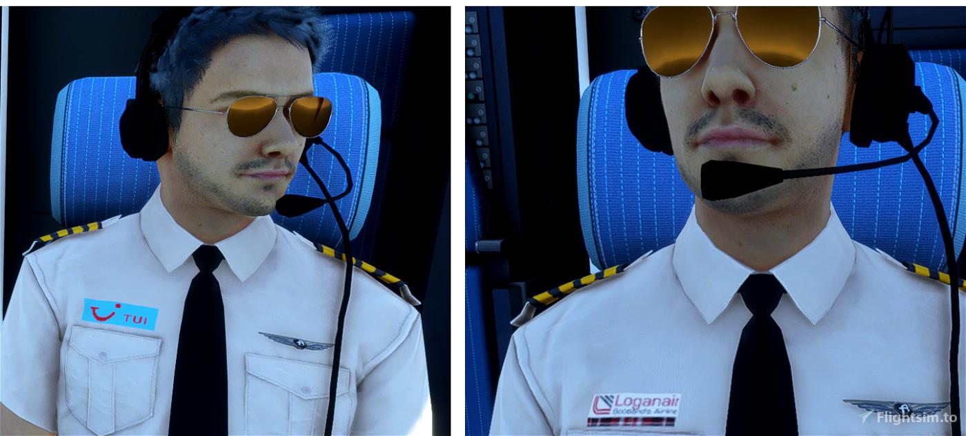 visible pilots ..company shirts and black tie Flight Simulator 2020