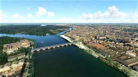 Libourne: Porte du Grand Port and other landmarks Image Flight Simulator 2020