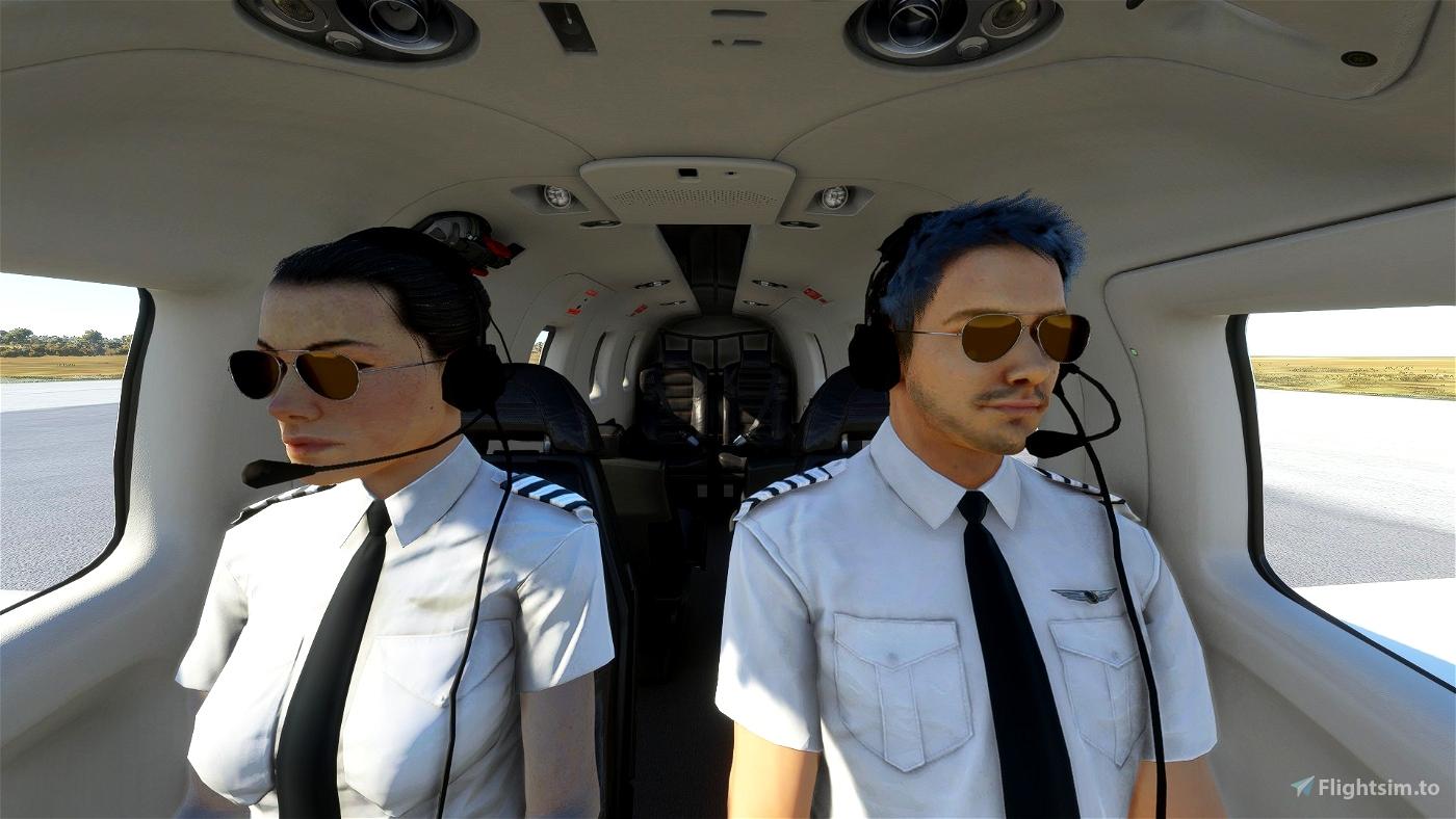 8K pilot uniforms Flight Simulator 2020