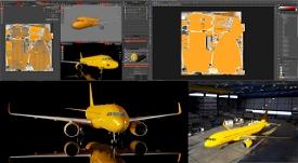 A320 NEO Complete 8K Paintkit for Blender and Photoshop Image Flight Simulator 2020