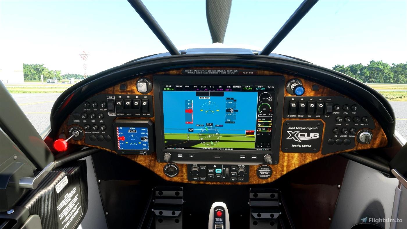 XCub RedWood DashPanel Microsoft Flight Simulator