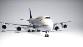Boeing 747-8F Saudia Cargo (4k) - no logo mirroring Microsoft Flight Simulator