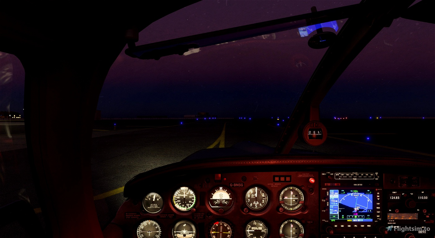 Piper PA28R Arrow III (JustFlight) - Lights mod