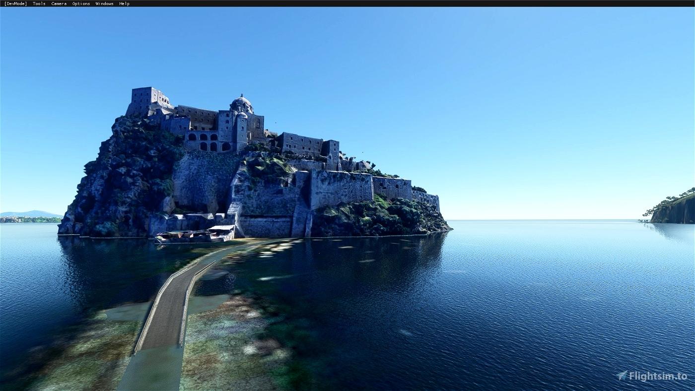 Aragonese Castle of Ischia (Naples) Microsoft Flight Simulator