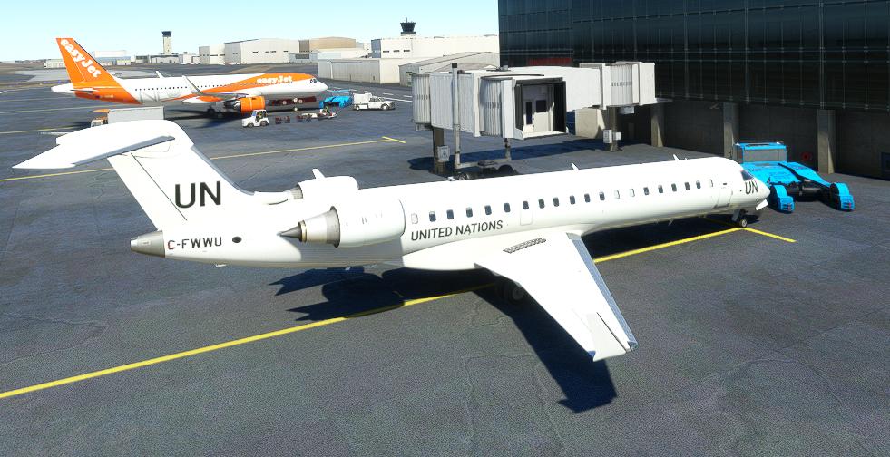 CRJ 550 United Nations [4K Fictional] Microsoft Flight Simulator